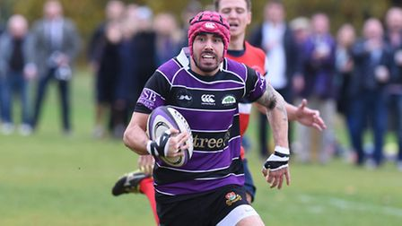 Ryan Forrester scored the first of Belsize Park's two tries. Pic: Paolo Minoli