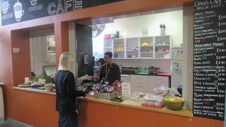 The cafe at the John Howard Centre, where patients can apply to work. They must submit a CV and atte