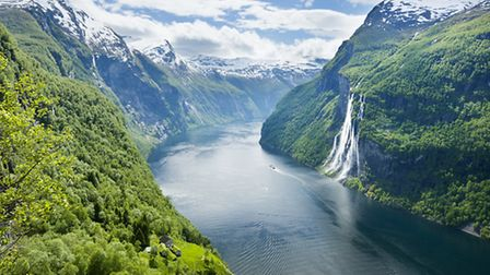 Geirangerfjord and Seven Sisters waterfall, Norway. Picture: Justin Foulkes/Lonely Planet