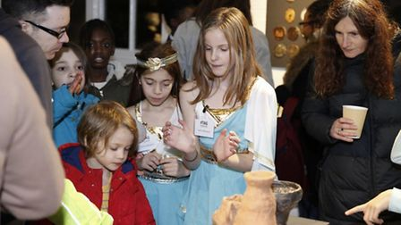 The launch of the Roman art gallery at Gayhurst School (Photo: Nick Delaney)