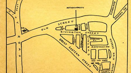 The location map from 1968. Archive images courtesy of Joseph Berke and PP/JB/IPS, Planned Environme