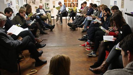 A group reading of Aristophanes' Lysistrata, which was followed by a discussion on how sex and the b