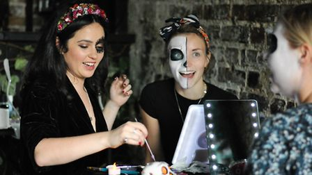 The Luster Day of the Dead make-up workshop