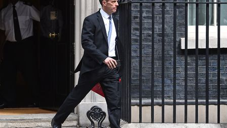 Brexit secretary Dominic Raab leaves Downing Street Photo: PA / Kirsty O'Connor