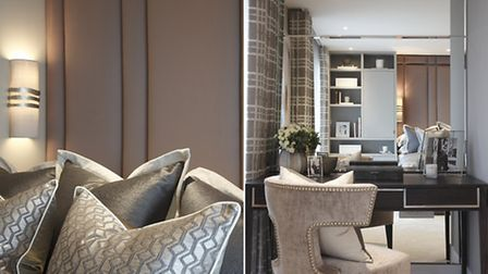 The three words Winham would use to describe the apartment are 'graceful, refined, and welcoming'