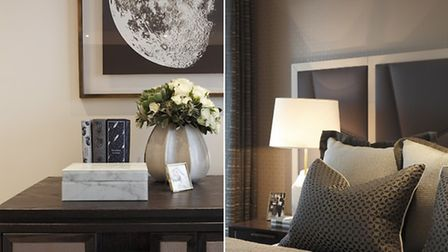 Luxe textures and tonal greys create an inviting interior