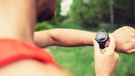 Adam's most prized gadget is his GPS tracker watch for his triathlon training