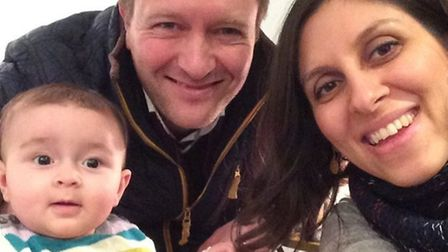 Nazanin and Richard Ratcliffe with daughter Gabriella when they were together
