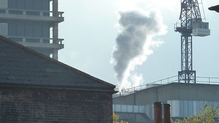 People have been wondering about the smoke from the Royal Free Hospital