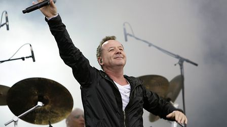 Jim Kerr of Simple Minds performing during the Isle of Wight festival. Picture: Yui Mok/PA