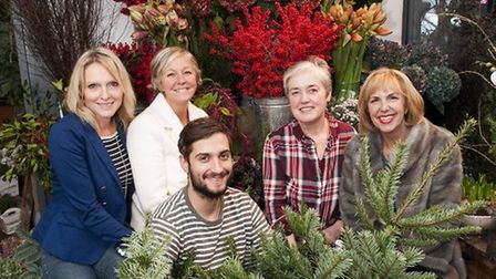 Some of the Crouch End Christmas team last year, Matt Richardson of Urban Flower Co, Julie Hennessy,