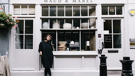 Karen Whiteley outside Maud and Mabel in Perrins Court