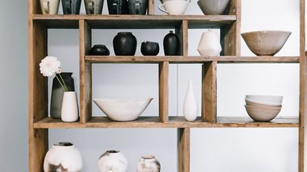 Ceramics on display at Maud and Mabel in Perrins Court