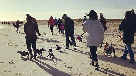 The first official Southwold Sausage Walk. Picture: ALEX SEINET