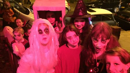 The Halloween party in Oldfield Road. Picture: Sally Freestone