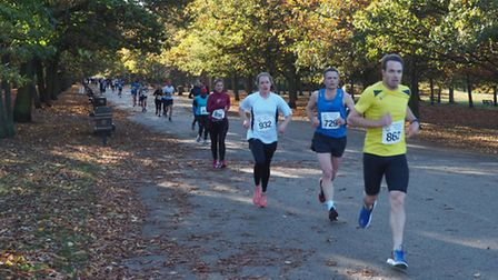 Runners take part in the Mornington Chasers 10k event in Regent's Park