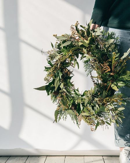 Hampstead design duo Rose and Caro will teach you how to give classic wreaths a modern twist