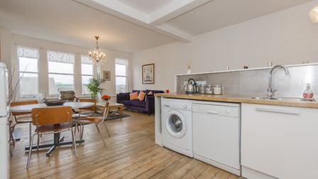 This two-bedroom period conversion flat is a dream for the first time buyer with funds who need to l