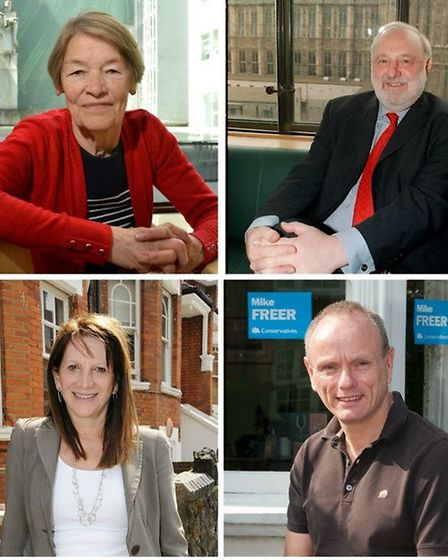 Former local MPs (clockwise from top left) Glenda Jackson, Frank Dobson, Lynne Featherstone and Mik