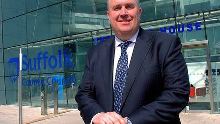 Leader of Suffolk County Council, Colin Noble. Picture: SIMON PARKER