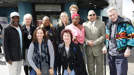 Ruby Wax with some of the cast of A Midsummer Night's Dream adaptation Caribbean Dream at the Rio, D