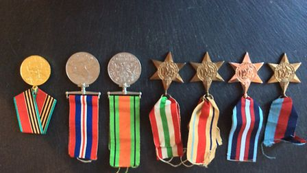 The seven medals stolen during the burglary Picture: MPS