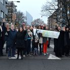 Neighbours span Murray Grove in protest at proposals to allow two-way traffic down the historically