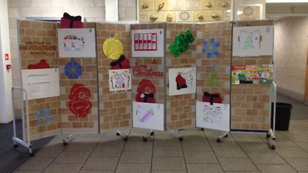 Students at Haverstock School made a 'welcome wall' for their homeless visitors last year.