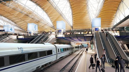 What the HS2 station at Euston could look like Picture: Grimshaw Architects/PA Images