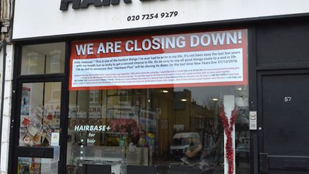 Hairbase Plus will close on New Year's Eve. Picture: Polly Hancock