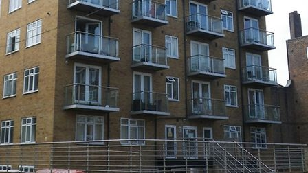 The flats in Stanway Street, Hoxton