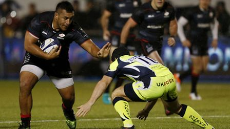 Saracens' Mako Vunipola in action against Sale Sharks earlier this month. Pic: PA