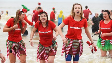 A previous Christmas Day swim in Lowestoft. Picture: Archant.