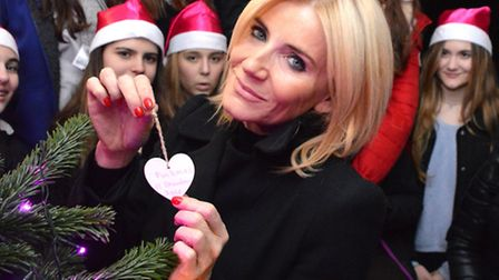 Michelle Collins places the first wish on the Alexandra Wylie Tower Foundation Christmas tree at Lau