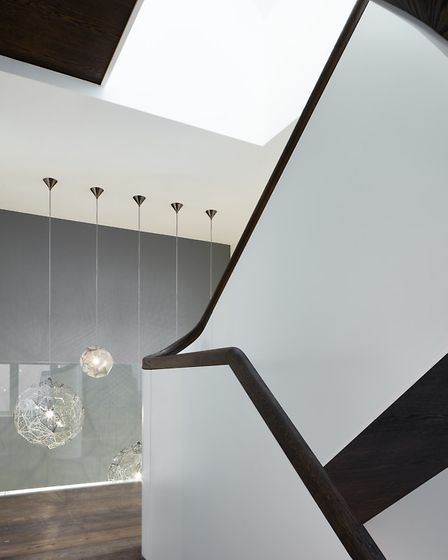It's curved shape is a modern twist on a Baroque spiral staircase
