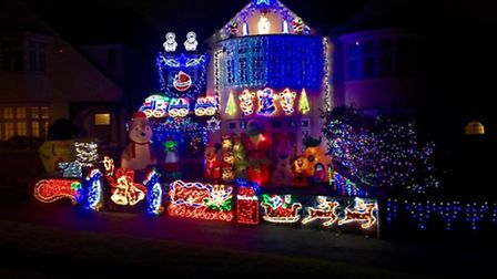 This house on the Holly Lodge Estate, in Highgate is lighting up the street for Christmas 2016