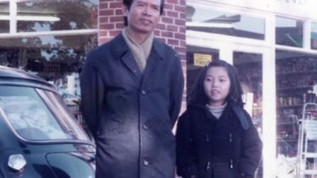Linh and her dad Thanh Vu in Hackney. Picture: Family of Linh Vu