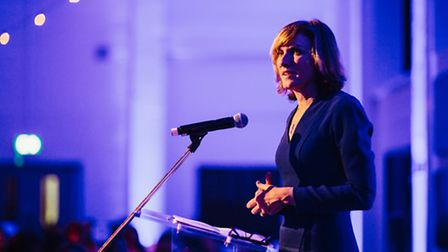 Fiona Bruce speaking at the South Hampstead High School140th Anniversary Celebratory Dinner. Credit: