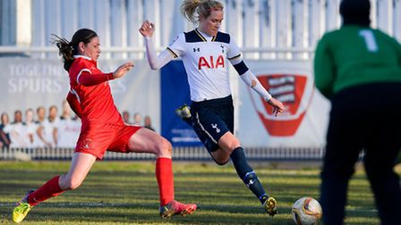 Spurs Ladies' Wendy Martin (centre) scored the winning goal against Leyton Orient on Sunday. Picture
