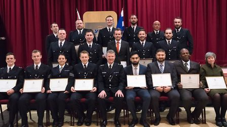 Police officers are commended for their hard work and bravery