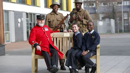 A new bench has been unveiled at Urswick School in honour of a former teacher and First World War so