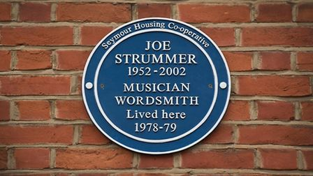 The new plaque at 33 Daventry Street marks the site of the squat where Joe Strummer lived between 19