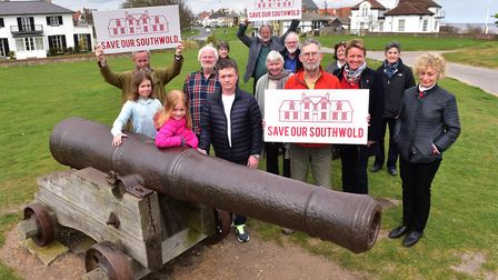 People behind the Save Our Southwold (Hospital) campaign. Picture: NICK BUTCHER