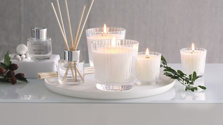 Mulled Wine & Sloe Gin collection Candle £34, mini diffuser, £16, votive, £12, all available from Th