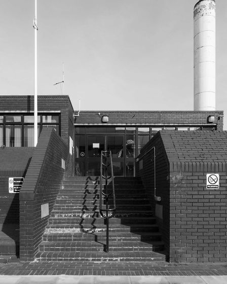 The Camden Ambulance Station in Gospel Oak, NW3, was designed by Henry White and built in 1975