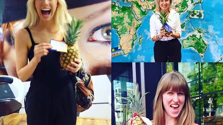 Londoners have been delighted by surprise pineapple deliveries