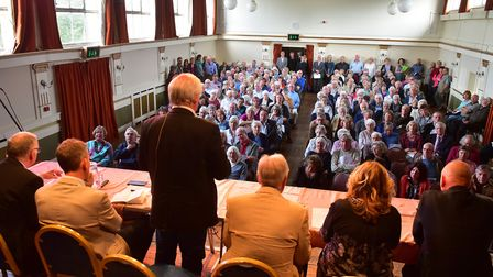 Hundreds of people have been attending public meetings to discuss the proposal. Picture: Nick Butche