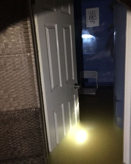Cecylia's basement, where her sunbeds are, was filled with water.
