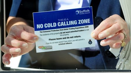 A No Cold Calling Zone in Lowestoft. Picture: Nick Butcher