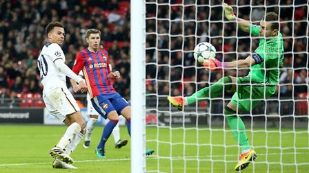 Dele Alli's second-half header is saved by Igor Akinfeev - but the unfortunate CSKA Moscow goalkeepe